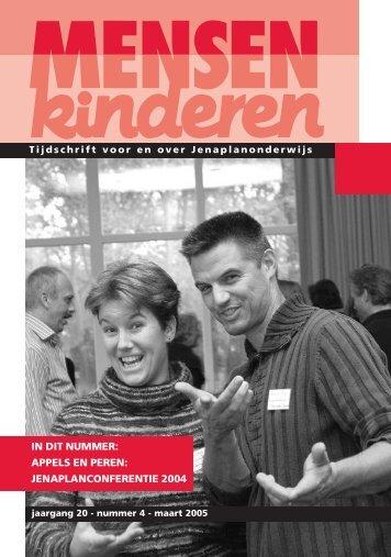 jenaplanconferentie 2004 - Nederlandse Jenaplanvereniging