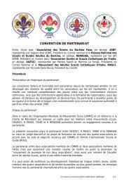 CONVENTION DE PARTENARIAT - Masci