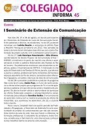 Colegiado Informa #45 - Faculdade de Comunicação e Artes - PUC ...