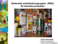 Anders Bolmstedt, NSG kemiska produkter - Svanen