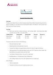 Baywatch Beach Resort Offer Overview The Baywatch Resort Goa is ...