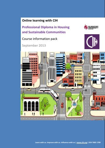 Professional Diploma in Housing and Sustainable Communities