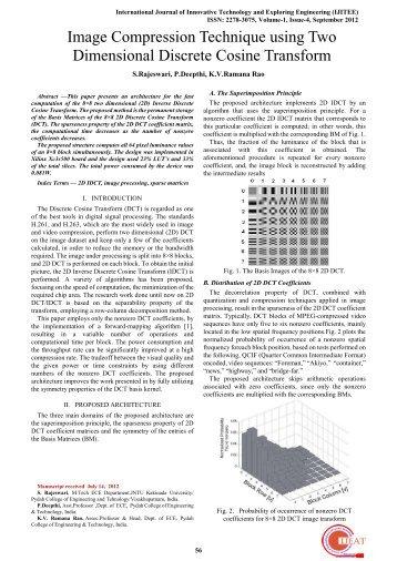 VLSI Implementation of Two Dimensional Discrete Cosine Transform