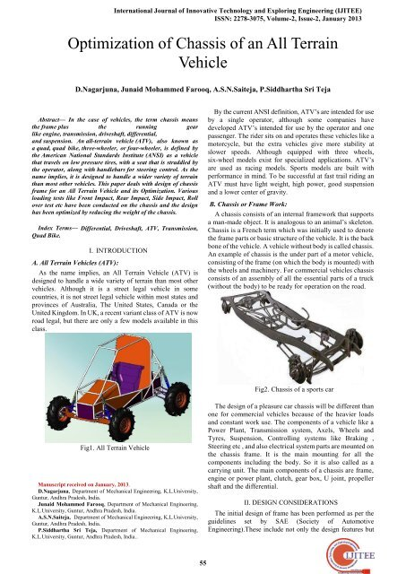 Optimization of Chassis of an All Terrain Vehicle - International