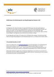 Einführung in die Bedienung des Learning Management Systems ...