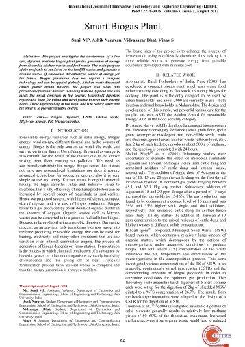 Smart Biogas Plant - International Journal of Innovative Technology ...