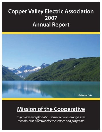 Copper Valley Electric Association 2007 Annual Report Mission of ...