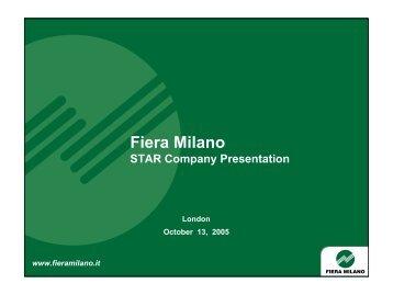 Fiera Milano STAR Company Presentation