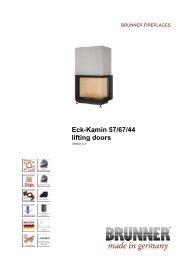 Eck-Kamin 57/67/44 lifting doors made in germany - IMPORCHAMA