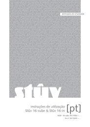 instruções de utilização Stûv 16-cube & Stûv 16-in ... - IMPORCHAMA