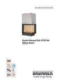 Kamin-Kessel Eck 57/67/44 lifting doors made in ... - IMPORCHAMA