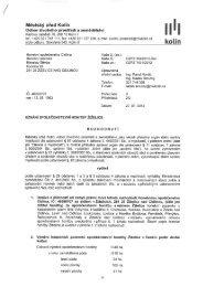 Odbor životního prostředí a zemědělství - Kolín