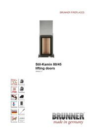 Stil-Kamin 80/45 lifting doors made in germany - IMPORCHAMA