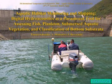 Aquatic Habitat Monitoring and Mapping: Digital ... - BioSonics, Inc
