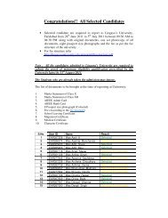 Congratulations!! All Selected Candidates - Lingaya's University