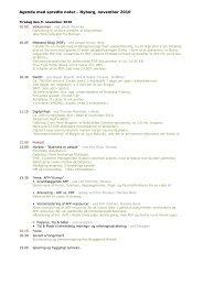 Agenda med spredte noter - Nyborg, november 2010 - KMD