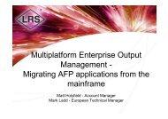 Multiplatform Enterprise Output Management - Migrating AFP ...