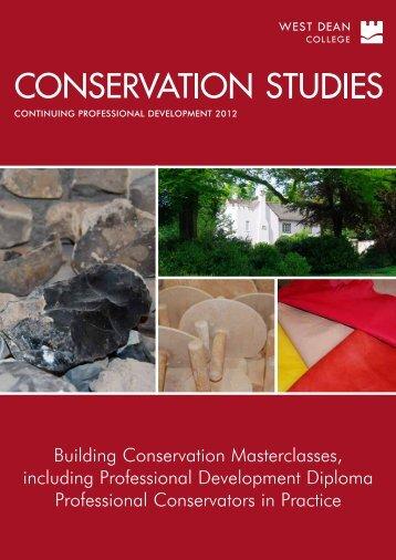 Conservation Studies 2012 brochure - West Dean College
