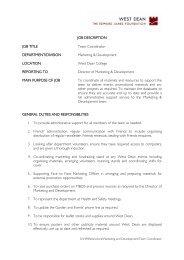 JOB DESCRIPTION JOB TITLE Team Coordinator DEPARTMENT ...