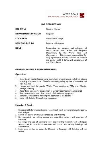job description west dean college job description for library assistant