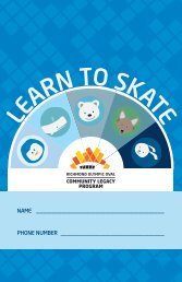 LEARN TO SKATE - Richmond Olympic Oval