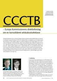 – Europa Kommissionens direktivforslag om en ... - Corit Advisory