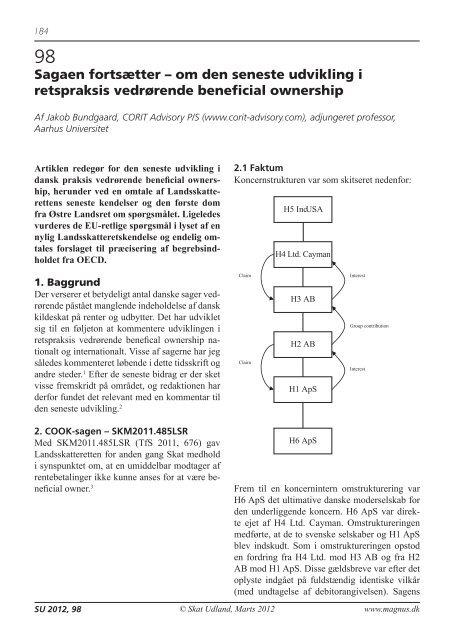 om udviklingen i retspraksis vedrørende beneficial ... - Corit Advisory