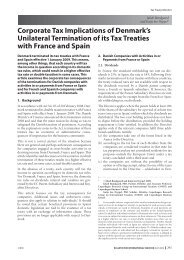 Corporate Tax Implications of Denmark's Unilateral ... - Corit Advisory