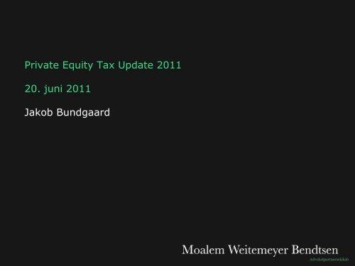 Private Equity Update 2011 - Corit Advisory