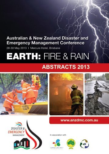 Book of Abstracts 2013 - Australian and New Zealand Disaster ...