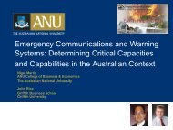 Emergency Communications and Warning Systems: Determining ...