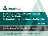 mental health - Australian and New Zealand Disaster Management ...