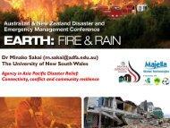 Dr Minako Sakai - Australian and New Zealand Disaster ...