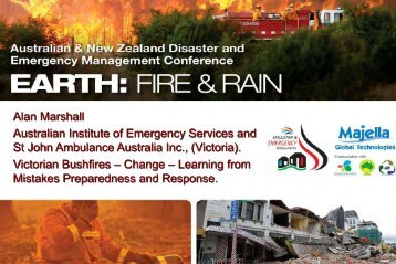 Alan Marshall Australian Institute of Emergency Services and St ...