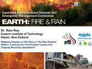 Dr. Ram Roy - Australian and New Zealand Disaster Management ...