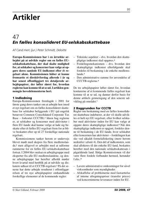 En fælles konsolideret EU-selskabsskattebase ... - Corit Advisory