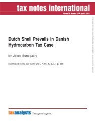 Dutch Shell Prevails in Danish Hydrocarbon Tax Case - Corit Advisory