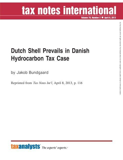 Dutch Shell Prevails in Danish Hydrocarbon Tax Case - Corit Advisory