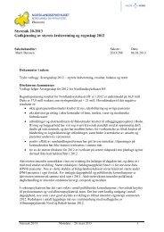 Godkjenning av styrets årsberetning og regnskap 2012