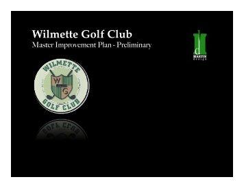Wilmette Golf Club - Wilmette Park District