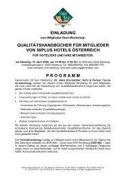 qualitätshandbücher für mitglieder von 50plus hotels österreich