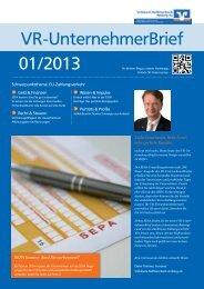 Ausgabe 01/2013 - Volksbank-Raiffeisenbank Amberg eG
