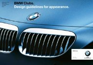BMW Clubs. Design guidelines for appearance. - BMW Klubben Norge