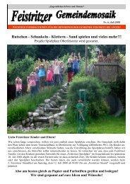 Mosaik Nr. 6, Juli 2008 - Feistritz bei Anger