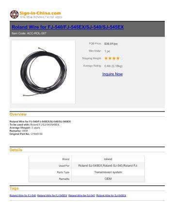 sign-in-china-Roland Wire for FJ-540/FJ-545EX/SJ-540/SJ-545EX