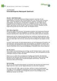 Entscheid der Jury - Naturpark Gantrisch