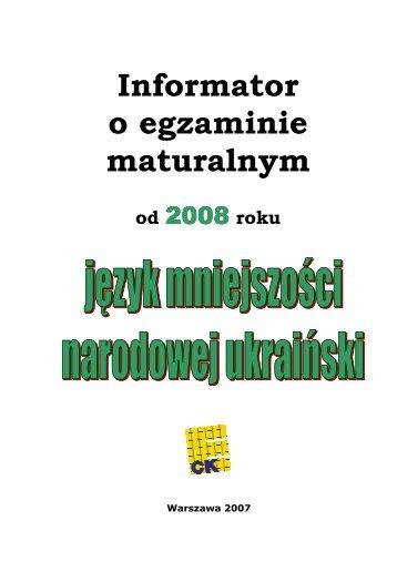 Informator o egzaminie maturalnym - Okręgowa Komisja ...