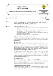 Sklep o soglasju k ceni socialno varstvene storitve ... - Občina Škofljica