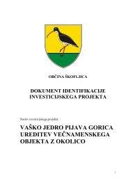 projekta Pijava Gorica - Občina Škofljica