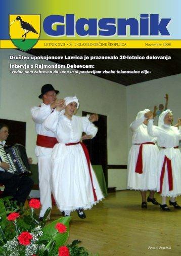Glasnik november 2008 - Občina Škofljica